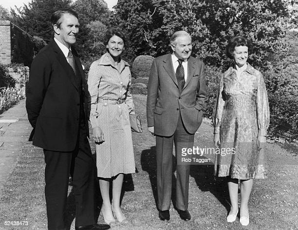 Australian Prime Minister Malcom Fraser with his wife Tammie and their hosts James Callaghan and Audrey Callaghan during a visit to Chequers in...