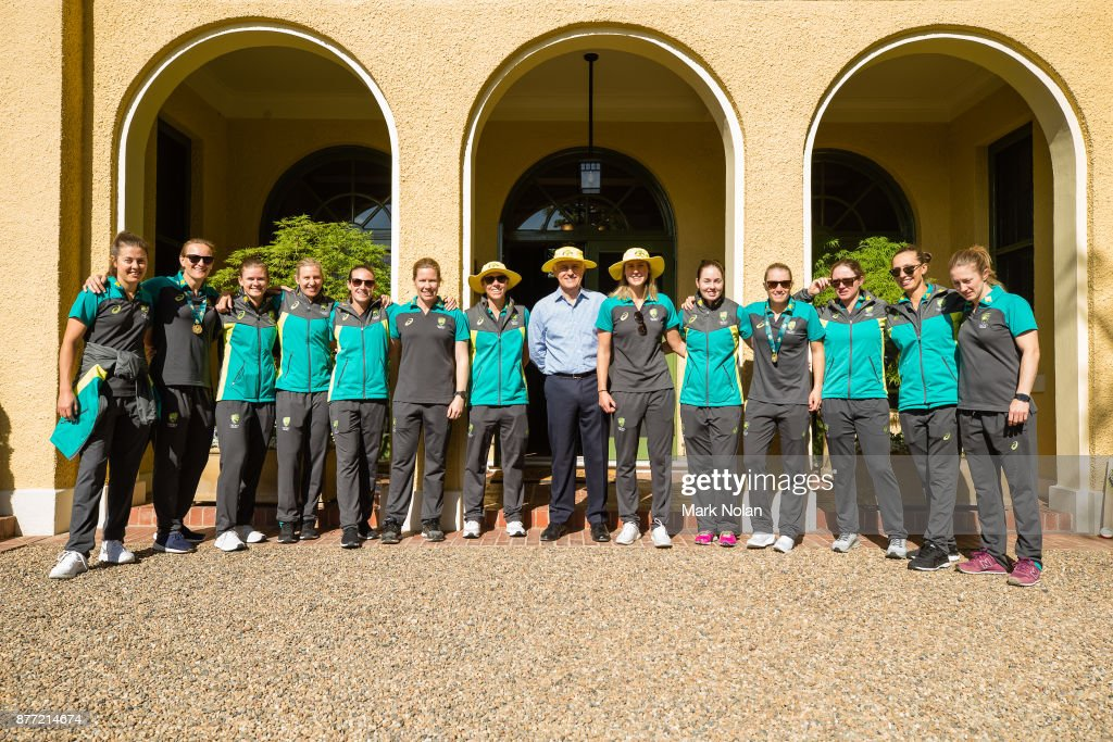 Australian womens cricket team meet with prime minister photos and australian prime minister malcom poses for a photo with the southern stars during an australian womens m4hsunfo