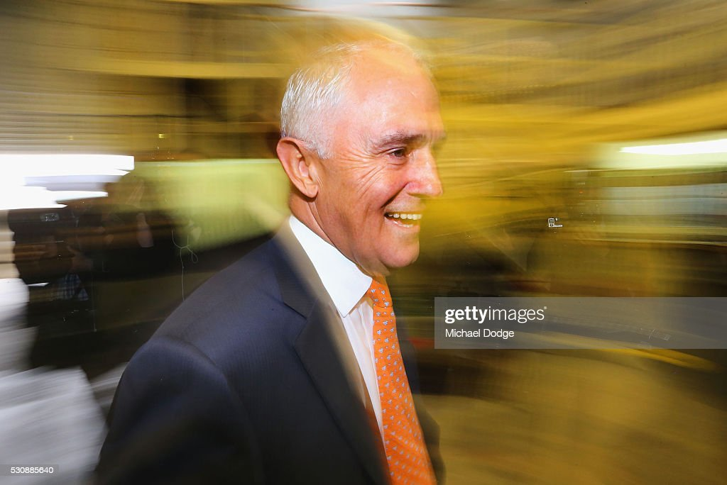 Australian Prime Minister Malcom Turnbull arrives at a Brewery in Mornington on May 12, 2016 in Melbourne, Australia. The Prime Minister has been named in the Panama Papers as a former director of British Virgin Islands company Star Technology Services Limited, which was set up and administered by the law firm Mossack Fonseca in the 1990s. Mr Turnbull resigned from the company in 1995.