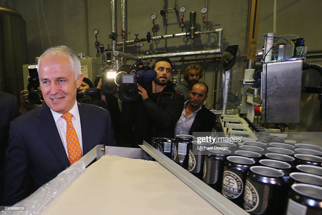 Prime Minister Malcolm Turnbull Campaigns In Melbourne As He Is Named In Panama Papers : News Photo