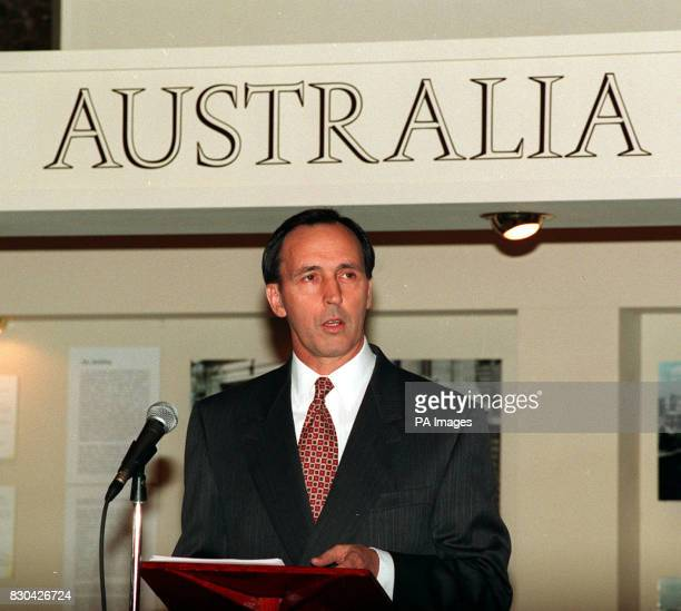 Australian Prime Minister Paul Keating during his speech at Australia House in London which marked the building's 75th anniversary.