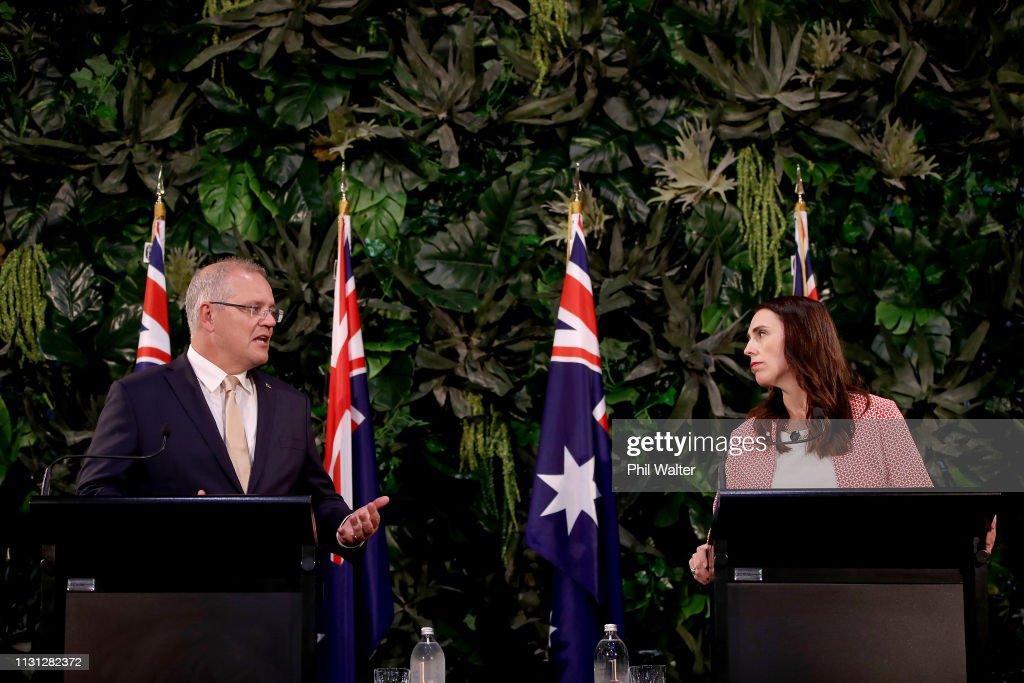 Australian Prime Minister Scott Morrison Visits Auckland : News Photo