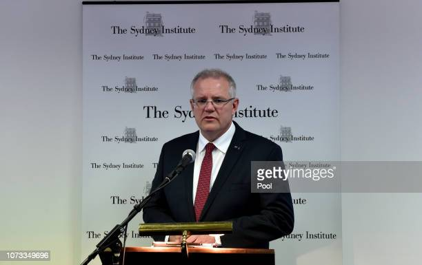 Australian Prime Minister Scott Morrison announces that Australia will recognise West Jerusalem as the capital of Israel during a speech at the...