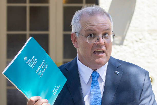 AUS: Prime Minister Scott Morrison Welcomes Final Report From The Royal Commission Into Aged Care