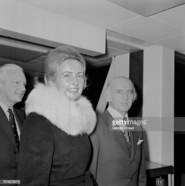 Australian Prime Minister William McMahon arrives at London Airport with his wife Sonia UK 8th November 1971