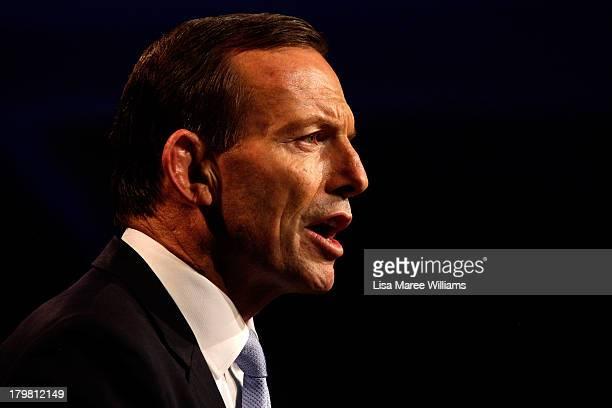 Australian Prime Ministerelect Tony Abbott claims victory in the 2013 Australian Election on September 7 2013 in Sydney Australia LiberalNational...