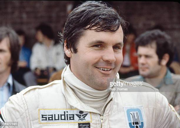 Australian racing driver Alan Jones driver of the AlbiladSaudia Racing Team Williams FW07 Ford V8 posed in England during the 1979 FIA Formula One...