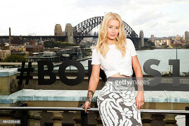 Australian rapper Iggy Azalea attends Bonds 100th birthday event at Cafe Sydney in Sydney New South Wales