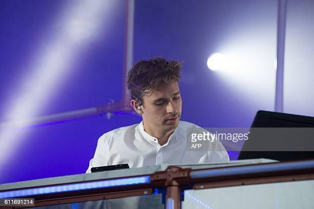 Australian record producer and musician Harley Edward Streten better known by his stage name Flume performs during day 1 of Austin City Limits Music...