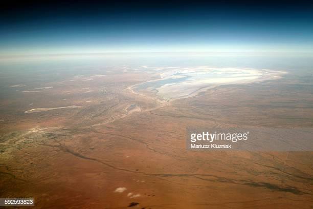 Australian red desert and white salt flats