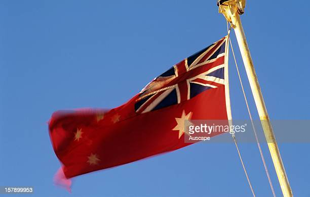 Australian Red Ensign featuring the stars of the Southern Cross and the Commonwealth Star The Shipping Registration Act of 1981 reaffirmed that the...