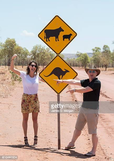 Australian restaurateur Luke Mangan with his winning CEO Melbournian Sofia Levin on September 24 2016 in El Questro Station Australia