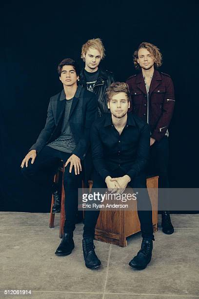 Australian rock band 5 Seconds of Summer Luke Hemmings Michael Clifford Calum Hood Ashton Irwin are photographed for Billboard Magazine on September...