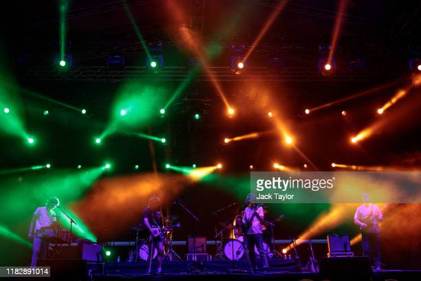 Australian rock band King Gizzard the Lizard Wizard perform on day one of the Maho Rasop Festival 2019 on November 16 2019 in Bangkok Thailand