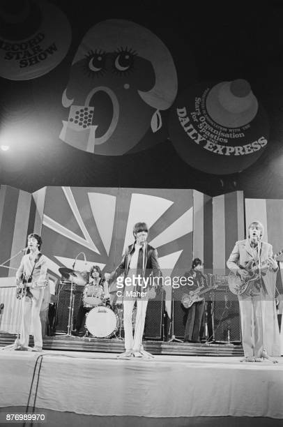 Australian rock group The Easybeats performing at the Daily Express Record Star Show UK 25th March 1968 Not in order Stevie Wright George Young Harry...