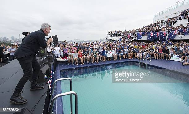 Australian rock legend Jimmy Barnes performs onboard PO Cruises Pacific Eden on January 26 2017 in Sydney Australia Jimmy was appointed an Officer of...