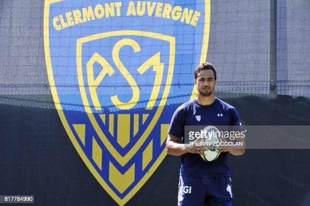 Australian rugby player Peter Betham poses during the first training session of the 20172018 rugby union season of ASM ClermontAuvergne at the...