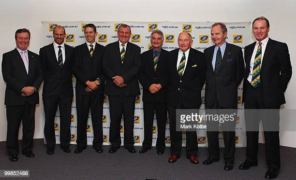 Australian Rugby Union Managing Director and CEO John O'Neill Wallaby statesmen David Wilson Roger Gould Greg Cornelsen John Brass Peter Johnson...