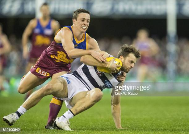Brisbane Lions Lewis Taylor in action vs Geelong Cats at the Gabba Brisbane Australia 7/8/2017 Credit Erick W Rasco