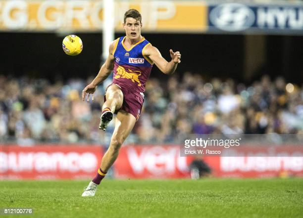 View of Brisbane Lions Jarrod Berry in action vs Geelong Cats at the Gabba Brisbane Australia 7/8/2017 Credit Erick W Rasco
