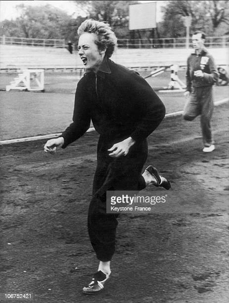 Australian Runner Betty Cuthbert Training In Melbourne Australia She Won Both The 100M And 200M Races In The Presence Of An Australian Audience In...
