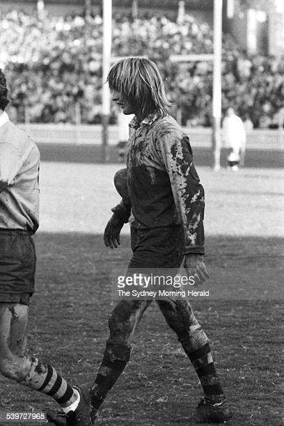 Australian Russell Fairfax leaves the field covered in mud during the rugby union match between Australia and France at the Sydney Cricket Ground ,...