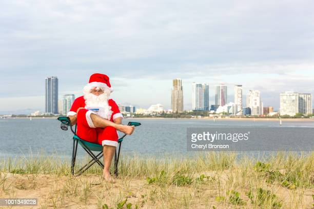 Australian Santa Claus reading
