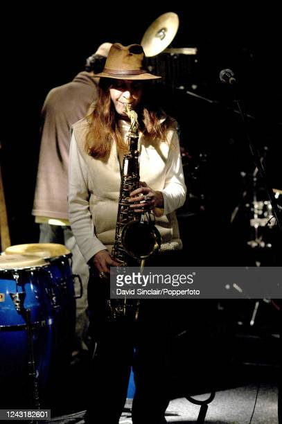 Australian saxophonist Louise Elliott performs live on stage at Ronnie Scott's Jazz Club in Soho London on 18th November 2002
