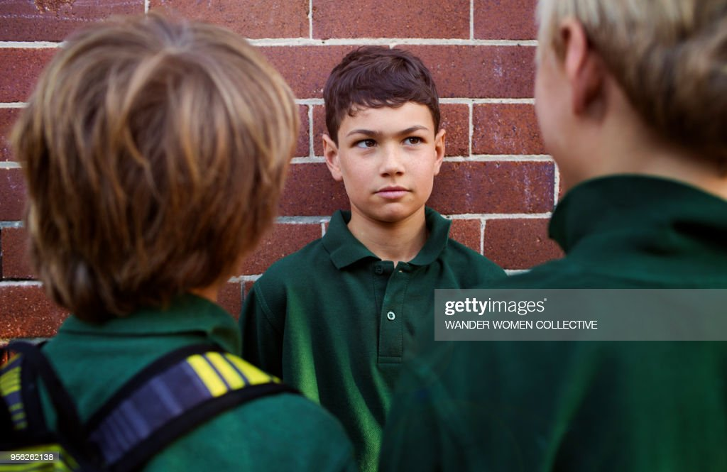 Australian schools boys bullying another student : Stock-Foto