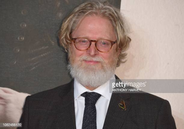 Australian screenwriter Tony McNamara poses upon arrival for the UK premiere of the film 'The Favourite' during the BFI London Film Festival in...