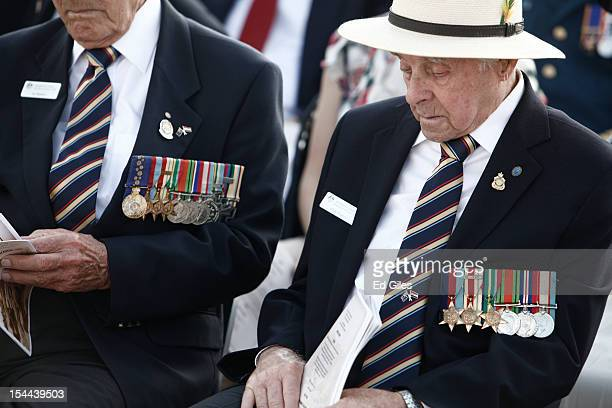 Australian Second World War veterans attend commemorations for the 70th anniversary of the second Battle of El Alamein at El Alamein Commonwealth War...