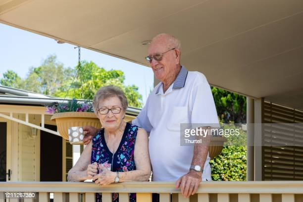 australian senior citizen couple living independently at own home - independence stock pictures, royalty-free photos & images