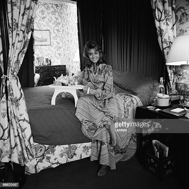 Australian singer and actress Olivia Newton John photographed at Shugborough, Staffordshire, home of The Earl of Lichfield, on 2nd October 1973. .
