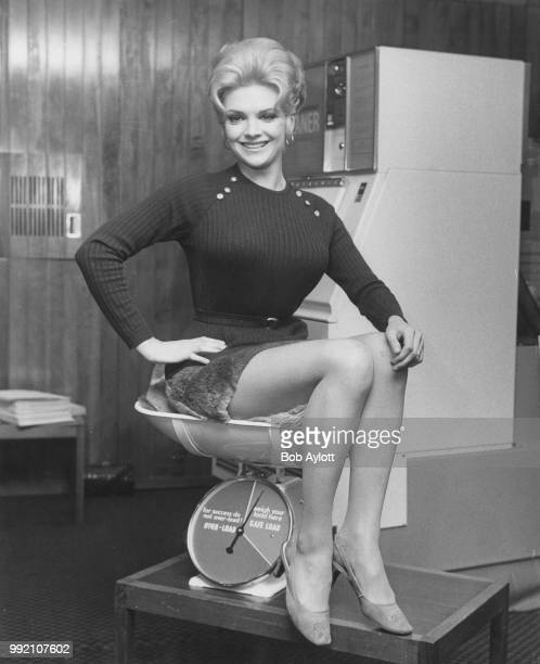 Australian singer and actress Patsy Ann Noble who later performed as Trisha Noble attends the opening celebrations of Anglowest Laundry's 100th...
