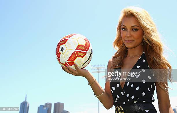 Australian singer and DJ Havana Brown is seen after an Australian Socceroos training session at Collingwood training Ground on January 4, 2015 in...