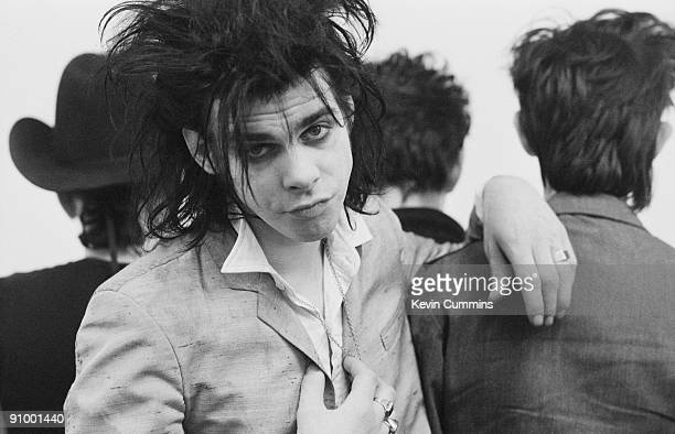 Australian singer and songwriter Nick Cave with members of The Birthday Party at the Hacienda Manchester 24th February 1983
