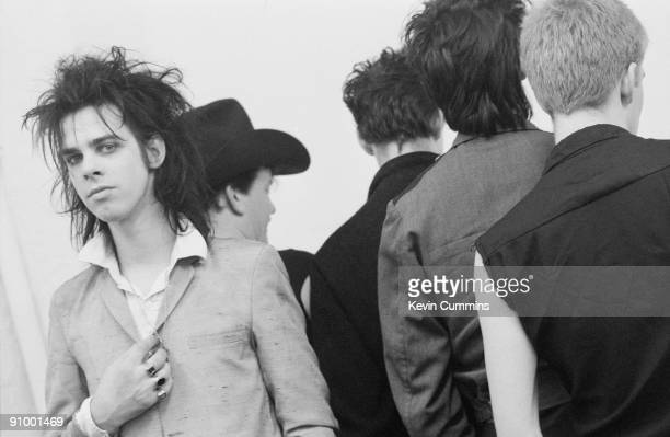 Australian singer and songwriter Nick Cave with The Birthday Party at the Hacienda Manchester 24th February 1983