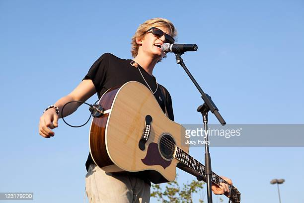 Australian Singer Cody Simpson performs at Macy's Castleton Square Mall on August 31 2011 in Indianapolis Indiana