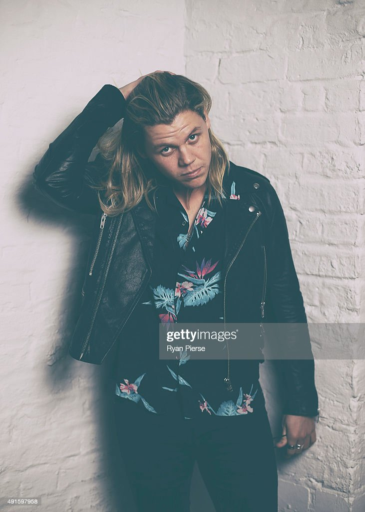 Australian Singer Conrad Sewell poses at the 29th Annual ARIA Nominations Event on October 7, 2015 in Sydney, Australia.