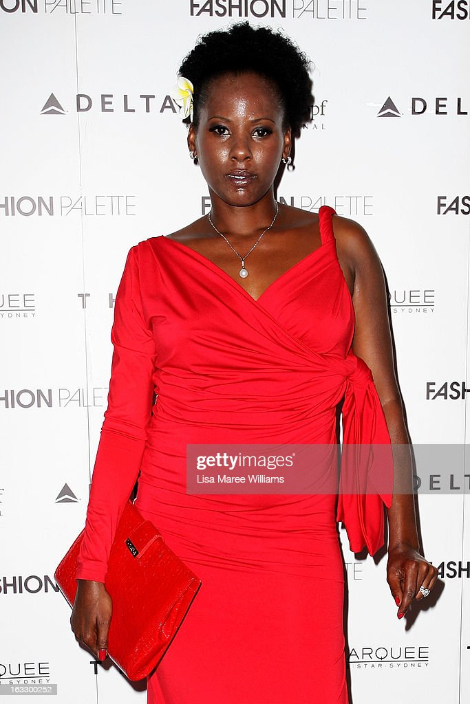 Australian singer Deni Hines attends the Fashion Palette 2013 at The Australian Technology Park on March 7, 2013 in Sydney, Australia.