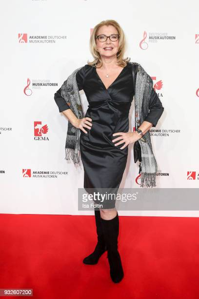Australian singer Jane Comerfordduring the German musical authors award on March 15 2018 in Berlin Germany