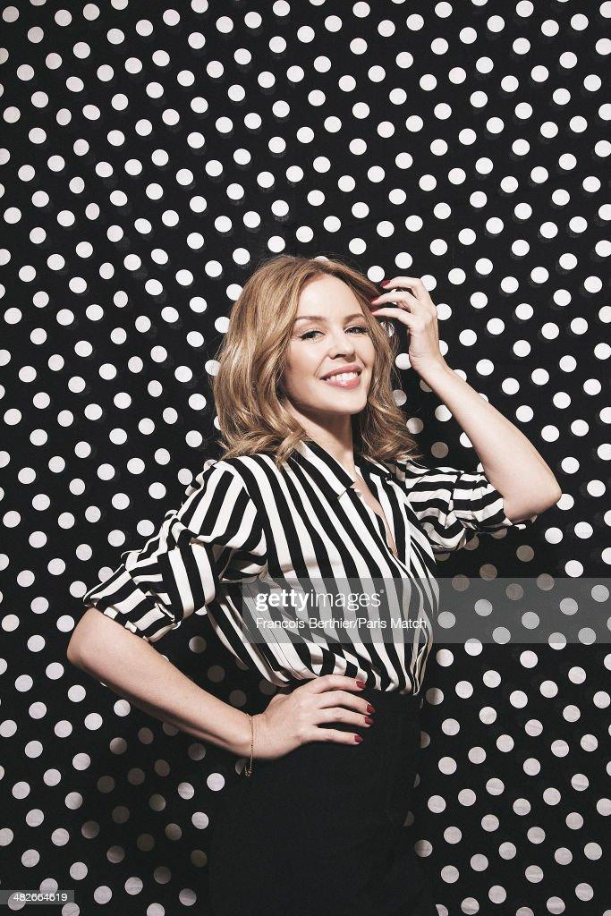 Kylie Minogue, Paris Match Issue 3385, April 9, 2014