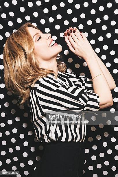 Australian singer Kylie Minogue is photographed for Paris Match on March 20 2014 in Paris France