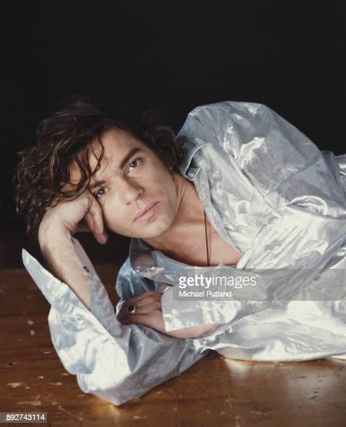 Australian singer Michael Hutchence of rock group INXS London September 1990