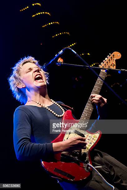 Australian singer Nicholas Allbrook performs live during a concert at the Postbahnhof on May 31 2016 in Berlin Germany