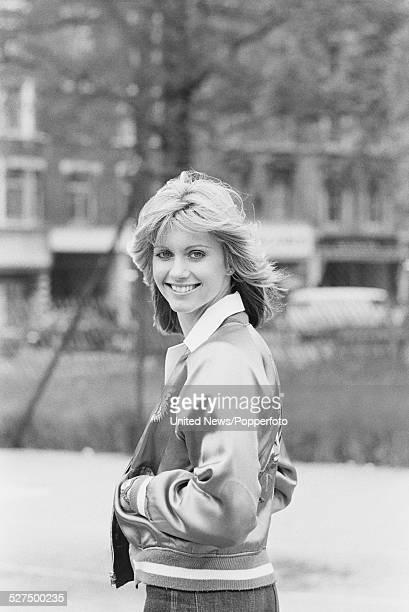Australian singer Olivia NewtonJohn pictured on Shepherd's Bush Green in London on 20th May 1977