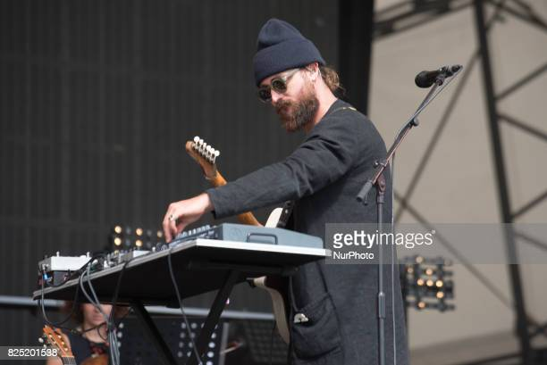 Australian singer Ry Cumming known also with his stage name RYX performs at CItadel Festival at Victoria Park London on July 16 2017