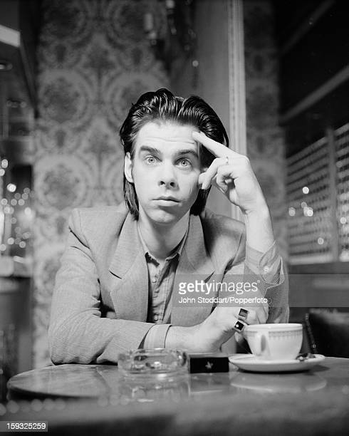 Australian singer songwriter and musician Nick Cave posed in 1988