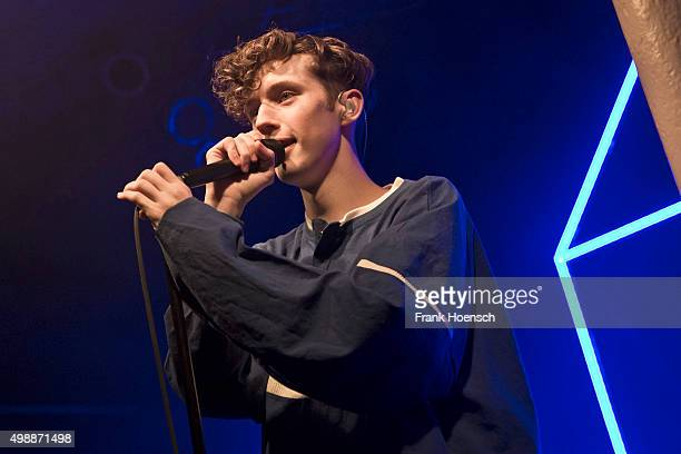 Australian singer Troye Sivan performs live during a concert at the Gretchen on November 26 2015 in Berlin Germany