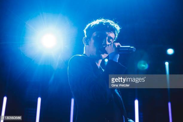 Australian singer Troye Sivan performs live on stage during a concert at Tempodrom on March 14 2019 in Berlin Germany